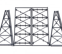 Micro Engineering N Scale Tall Steel Viaduct Tower or Bents Kit (75-176)