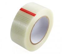High Strength Chequered Fibre Tape. 50mm x 50m