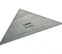 """Zona Precision 3 """"Stainless Steel Triangle Ruler"""