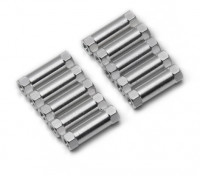 Lichtgewicht Aluminium Ronde Sectie Spacer M3x17mm (zilver) (10st)