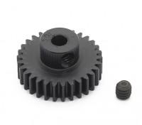 Robinson Racing zwart geanodiseerd aluminium Pinion Gear 48 Pitch 30T