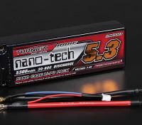 Turnigy nano-tech 5300mah 2S2P 30 ~ 60C Hardcase Pack Lipo (ROAR GOEDGEKEURD)