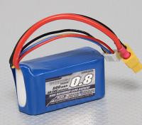 Pack Turnigy 800mAh 3S 40C Lipo