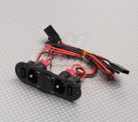 Heavy Duty RX Twin-switch met Charge Port & Fuel Dot Blank