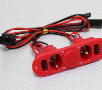 Heavy Duty RX Twin-switch met Charge Port & Fuel Dot Red