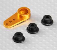 Aluminium One-way Universal Servo Arm - JR, Futaba & HITEC (Golden)
