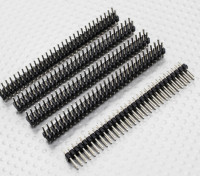 Straight Pin Header 2 Row 30 Pin 2.54mm Pitch (5PCS)