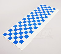 Stickervel Chequer Pattern Blue / Clear 590mmx180mm