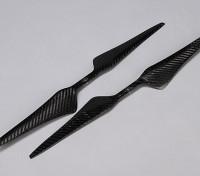 Multirotor Carbon Fiber T-Style Propeller 17x5.5 Black (CW / CCW) (2 stuks)