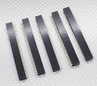 2x30P Pin Socket - 2.54mm Pitch (5pcs / bag)