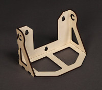 Laser Cut Plywood Fuel Tray voor de H-King Field Box 223mm x 44mm x 43mm - Self Assembly