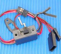 Receiver Switch (3 stekker) Pakken JR / Futaba