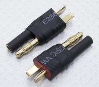 T-Connector naar HXT 4mm Battery Adapter Lead (2pc)