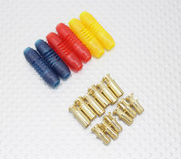 4mm RCPROPLUS Supra X Gold Bullet Gepolariseerde connectoren (6 paar)