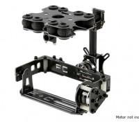 Schokabsorberende 2 Axis borstelloze Gimbal Kit voor Card Type Camera's - Glasvezel Version