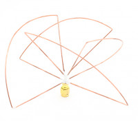 Circulair gepolariseerde 1.2GHz Receiver Antenna (RP-SMA) (LHCP) (Short)