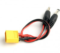 XT60 Male naar 2 DC Jack Plug Connectors (1 st)