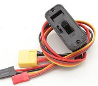 Heavy Duty Switch harnas met XT60 Input Lood, gebouwd in opladen Socket en DSC Lead
