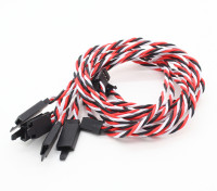 Twisted 45cm Servo Lead Extention (Futaba) met haak 22AWG (5pcs / bag)