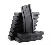 King Arms 120b ronde metalen tijdschriften voor Marui M4 / M16 AEG-serie (zwart, 10st / doos)