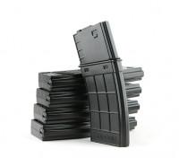 King Arms 130rounds Tangodown stijl tijdschriften voor M4 AEG (zwart, 5 stuks / doos)