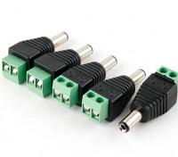 2.1mm DC stekker met schroef Terminal Block (5 stuks)