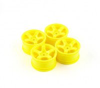 Sweep Mini 5 Spoke Wheel Type A - Geel (4 stuks)