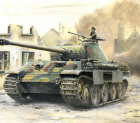 Italeri 1/56 Schaal Duitse Sd.Kfz.171 Panther Ausf.A plastic model kit