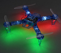 HobbyKing FPV250 V4 Blue Ghost Edition LED Night Flyer FPV Drone (Blauw) (Kit)
