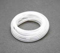Silicon brandstofleiding (1 mtr) wit voor Nitro Motoren 4x2.5mm