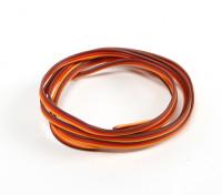 26AWG Servo Draad 1mtr (Rood / bruin / oranje)