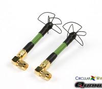 Quanum Circular Wireless SPW58 RHCP antenne Race Reeks Voor 5.8GHz Zenders (SMA)