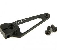 CNC Aluminum Servo Arm - Futaba (zwart)