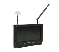 7 inch 800 x 480 40CH Diversity Receiver Zon leesbaar FPV Monitor w / DVR Fieldview 777SB (Amerikaanse stekker)