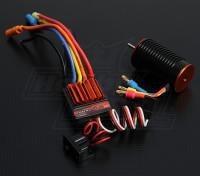 TrackStar 1/18 Scale 14T borstelloze macht System (4300kv)