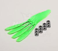 GWS Style Slowfly Propeller 8x4.5 Green (CCW) (4 stuks)