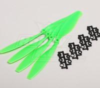 GWS Style Slowfly Propeller 10x4.5 Green (CCW) (4 stuks)