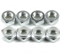 Aluminium Low Profile Nyloc Moer M5 zilver (CCW) 8 stuks