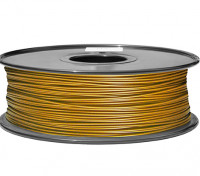 HobbyKing 3D-printer Filament 1.75mm PLA 1KG Spool (Metallic Gold)