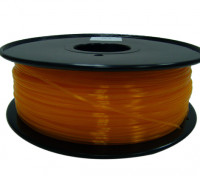 HobbyKing 3D Printer Filament 1.75mm PLA 1KG Spool (Translucent Orange)