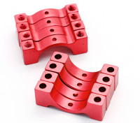 Red geanodiseerd CNC halve cirkel legering buis klem (incl.screws) 15mm
