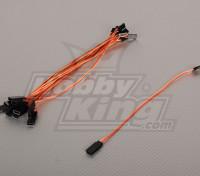 20cm Servo Lead (JR) 32AWG Ultra Light (10st / bag)