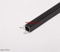 Carbon Fiber vierkante buis 750x10mm