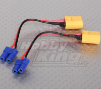 XT60 EC2 Losi Battery Adapter (2 stuks / zak)