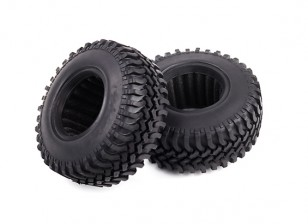 1/10 Scale Off Road Rock Crawler 1.9 Soft Compound Tyres with Foam Inserts (2 Tires and 2 Inserts)