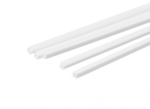 ABS Square Rod 1.5mm x 1.5mm x 500mm White (Qty 5)