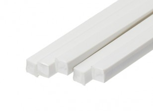 ABS Square Rod 6.0mm x 6.0mm x 500mm White (Qty 5)