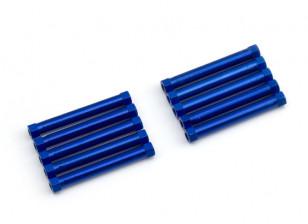 Lichtgewicht Aluminium Ronde Sectie Spacer M3x26mm (Blauw) (10st)