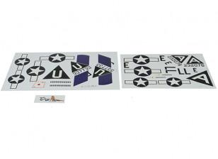 Hobbyking 1875mm B-17 F / G Flying Fortress (V2) (zilver) - vervangende sticker Set