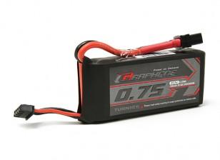 Pack Turnigy Grafeen 750mAh 3S 65C Lipo (Short lead)